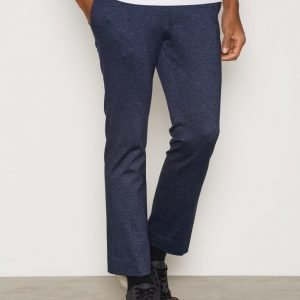 Topman Jersey Crop Trouser Pukuhousut Dark Blue