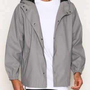 Topman LTD Grey Hooded Mac Takki Grey
