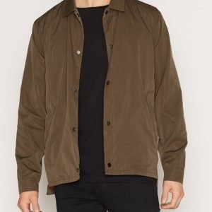 Topman LTD Khaki Nylon Mix Coach Jacket Takki Khaki
