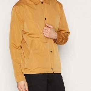 Topman LTD Mustard Nylon Mix Coach Jacket Takki Yellow