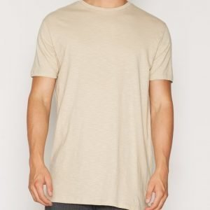 Topman Longline T-Shirt T-paita Stone