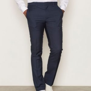 Topman Mid Blue Skinny Fit Suit Trousers Pukuhousut Mid Blue