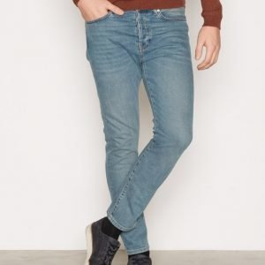 Topman Mid Wash Blue Stretch Tapered Jeans Farkut Blue
