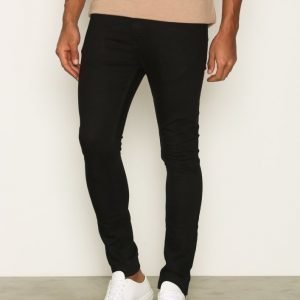 Topman Mid Wash Stretch Slim Jeans Farkut Black