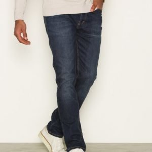 Topman Mid Wash Stretch Slim Jeans Farkut Dark Blue