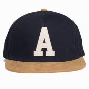 Topman Navy And Tan Logo Snapback Cap Lippis Grey