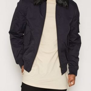 Topman Navy Flight Jacket Takki Dark Blue