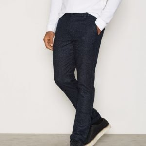 Topman Navy Wool Blend Skinny Chinos Housut Navy Blue