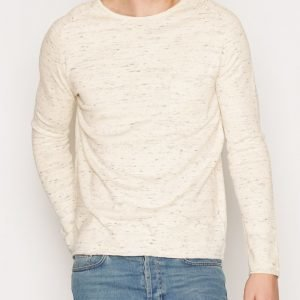 Topman Off White Slub Slim Fit Jumper Pusero Offwhite