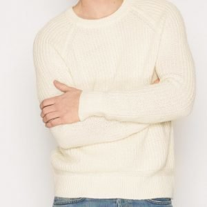 Topman Off White Textured Raglan Slim Fit Jumper Pusero Offwhite