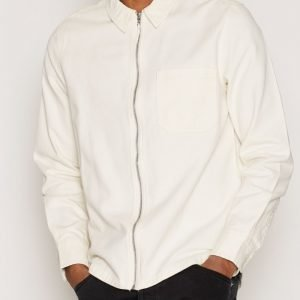 Topman Off White Zip Through Overshirt Kauluspaita Cream