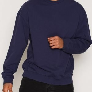 Topman Panel Oversized Sweatshirt Pusero Dark Blue