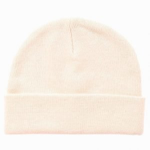 Topman Pink Flat Knitted Beanie Hat Pipo Pink