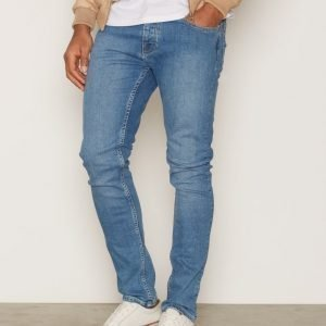 Topman Powder Blue Stretch Skinny Jeans Farkut Blue