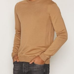 Topman Premium Camel Merino Blend Jumper Pusero Light Brown
