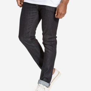 Topman Premium Raw Blue Selvedge Stretch Skinny Jeans Farkut Dark Blue