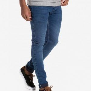 Topman Premium Stretch Skinny Selvedge Jeans Farkut Mid Blue
