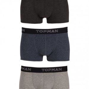 Topman Salt And Pepper 3-P Trunks Bokserit Multicolor