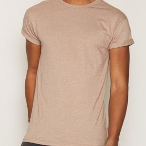 Topman Salt and Pepper Muscle Fit Roller T-Shirt T-paita Light Brown
