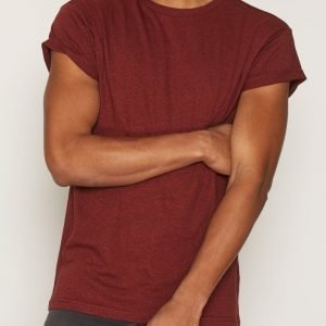 Topman Salt and Pepper Muscle Fit Roller T-Shirt T-paita Red