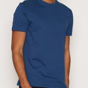 Topman Short sleeve blue slim tee T-paita Dark Blue