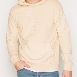 Topman Stone Ripped Classic Fit Hoodie Pusero Stone