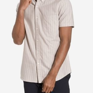 Topman Stone and White Stripe Casual Shirt Kauluspaita Stone