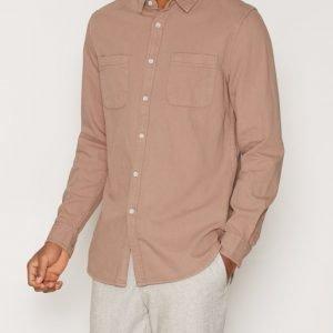 Topman Stucco Casual Shirt Kauluspaita Pink