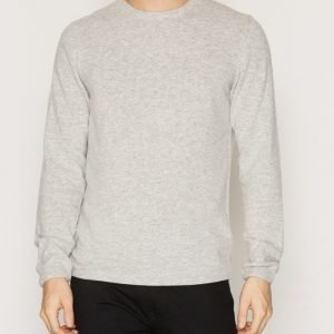 Topman TOPMAN PREMIUM Grey Slim Fit Soft Touch Jumper Pusero Grey