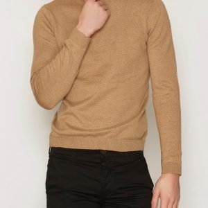Topman Tan Marl Slim Fit Jumper Pusero Light Brown