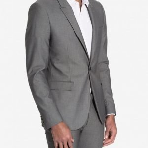 Topman Textured Ultra Skinny Fit Suit Jacket Bleiseri Light Grey