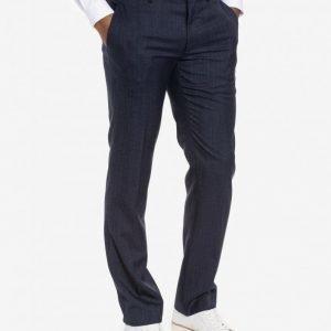 Topman Textured Wool Blend Slim Fit Suit Trousers Puvunhousut Dark Blue
