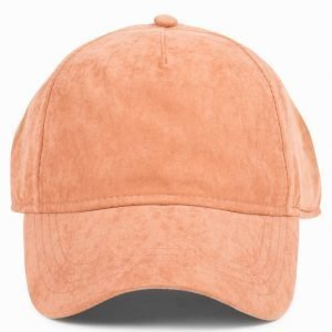 Topman Tobacco Faux Suede Curved Peak Cap Lippis Light Brown
