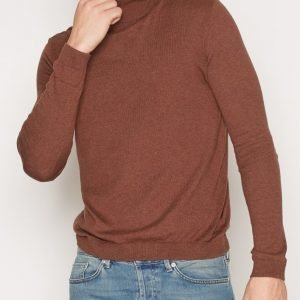 Topman Toffee Marl Roll Neck Slim Fit Jumper Pusero Light Brown