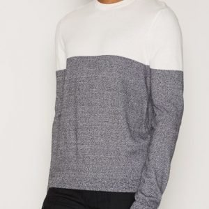 Topman Twist Colour Block Jumper Pusero Grey