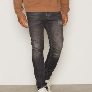 Topman Washed Black Ripped Stretch Skinny Jeans Farkut Black