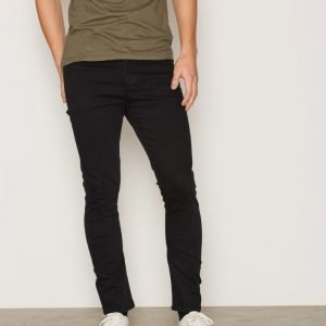 Topman Washed Black Tapered Stretch Skinny Jeans Farkut Black