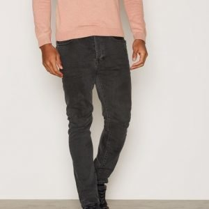 Topman Washed Stretch Tapered Jeans Farkut Black