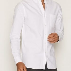 Topman White Button Down Oxford Shirt Kauluspaita White