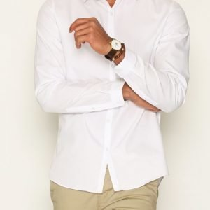 Topman White Smart Shirt Kauluspaita White