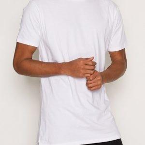 Topman White Step Hem Longline T-Shirt T-paita White