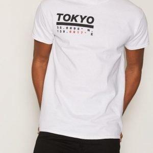 Topman White Tokyo Print T-Shirt T-paita White