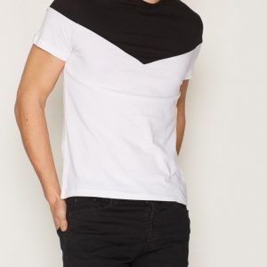 Topman White and Black Chevron T-Shirt T-paita White