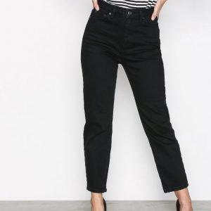 Topshop Black Straight Jeans Farkut Black