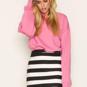 Topshop Bold Stripe Pelmet Skirt Minihame Black / White