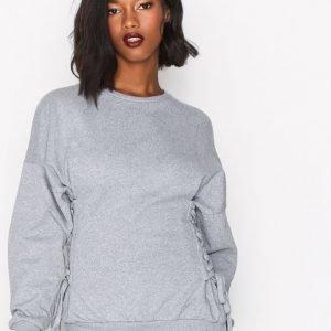 Topshop Corset Side Sweatshirt Svetari Grey Marl