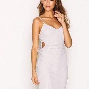 Topshop Drawstring Mini Dress Kotelomekko Light Grey