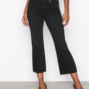 Topshop Dree Dark Washed Jeans Farkut Black