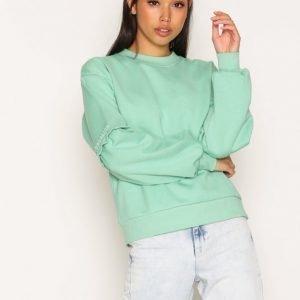 Topshop Extreme Blouson Sweatshirt Svetari Green