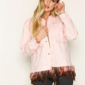 Topshop Fiesta Jacket Farkkutakki Pink